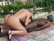 Mirella Mansur chupando negro dotado